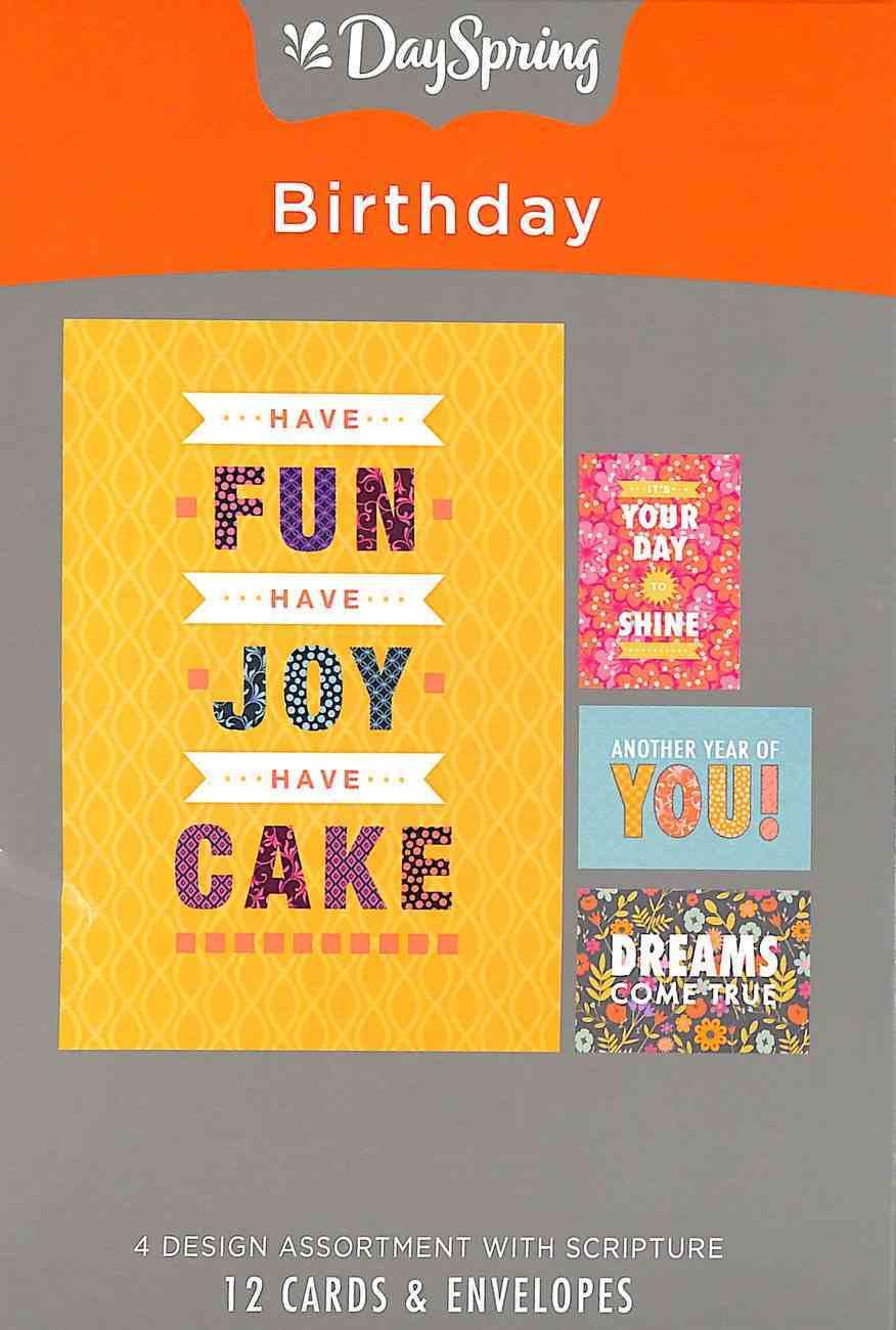 Boxed Cards Birthday: Joy Box
