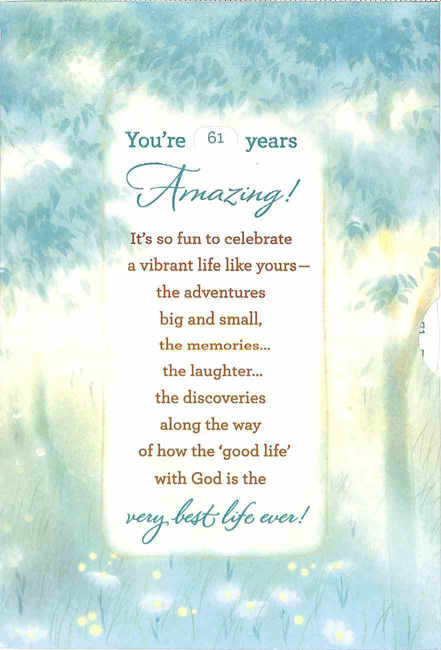 Birthday With Multi Year Spinner (Age Range 61 To 100 Years) Cards