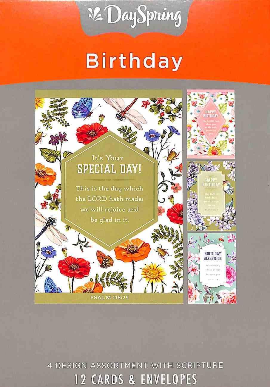 Boxed Cards Birthday: Bug Theme (Kjv) Box