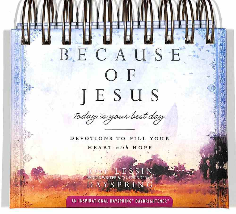 Daybrighteners: Because of Jesus (Padded Cover) Spiral