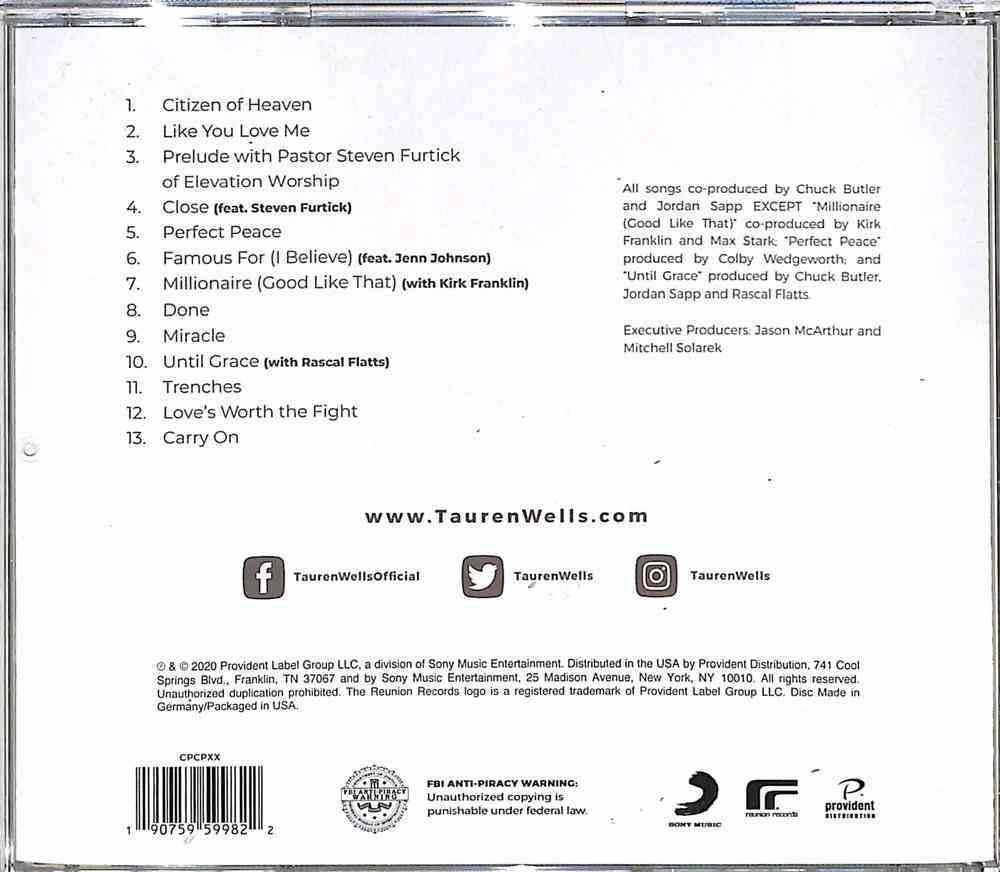 Citizen of Heaven CD