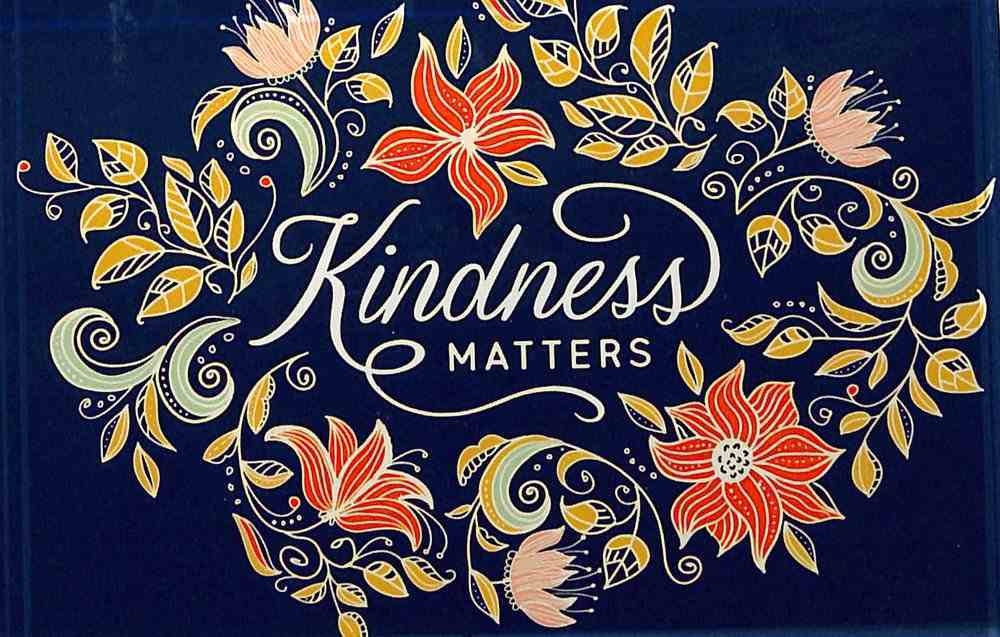 Glass Plaque - Kindness Matters, Navy Florall (Kindness Matters Collection) Plaque
