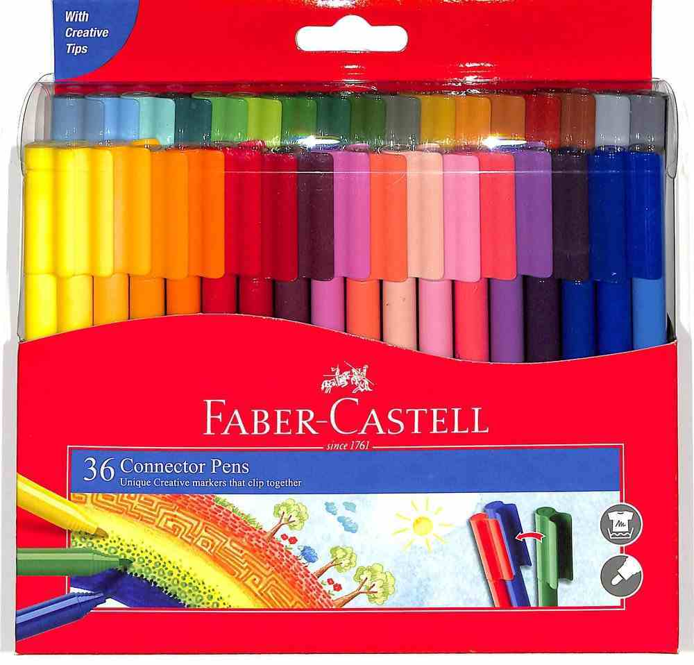 Faber-Castell Connector Pens Marker Wallet of 36 Stationery