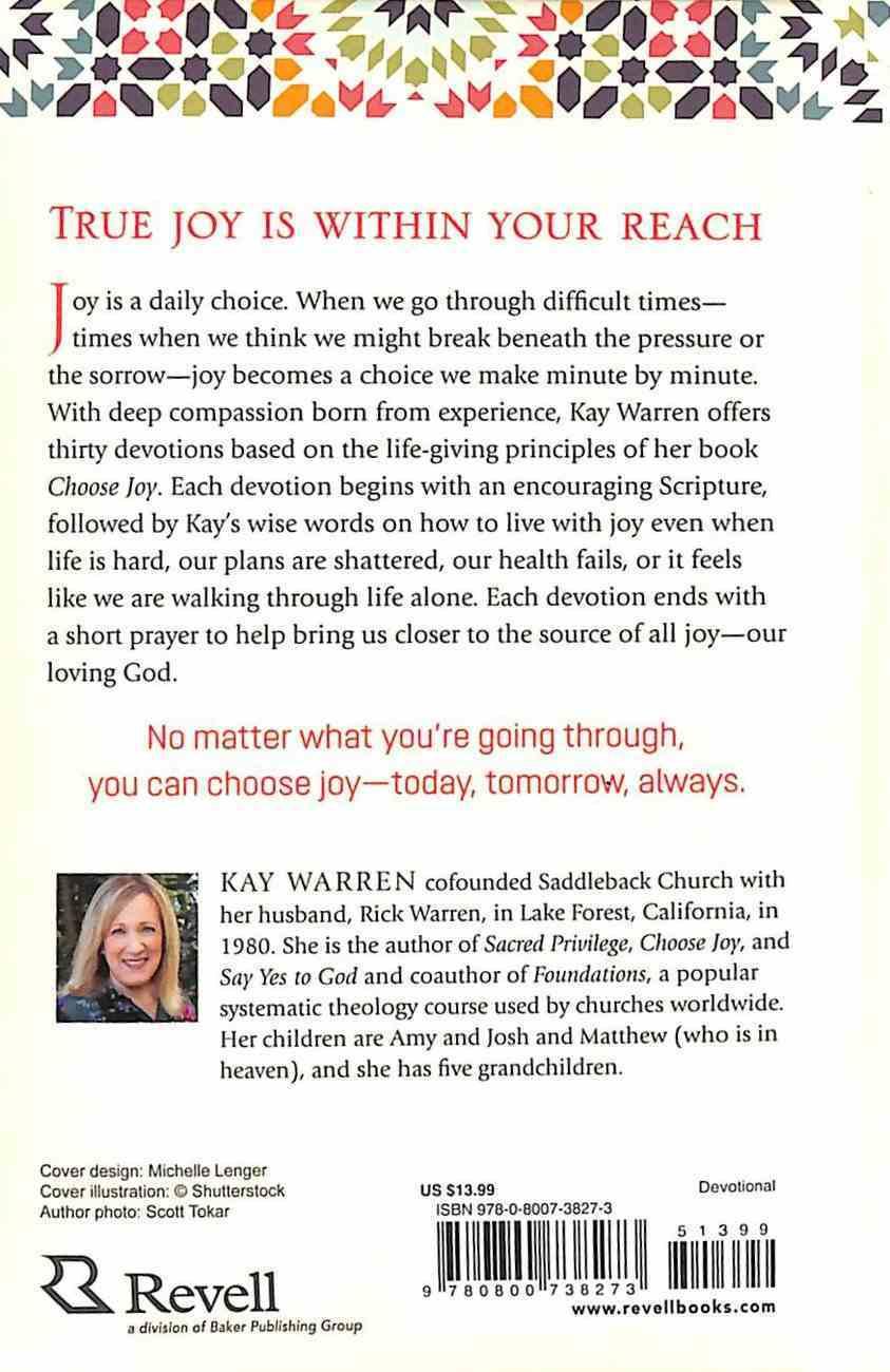 Choose Joy Women's Devotional: Finding Joy No Matter What You're Going Through Hardback