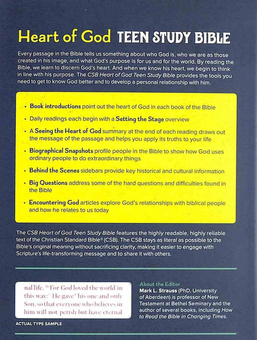 CSB Heart of God Teen Study Bible Hardback