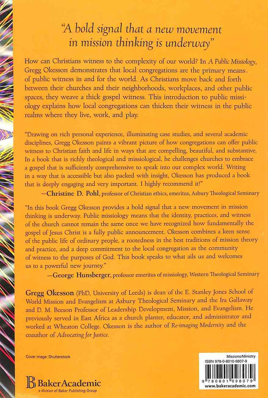 A Public Missiology: How Local Churches Witness to a Complex World Paperback