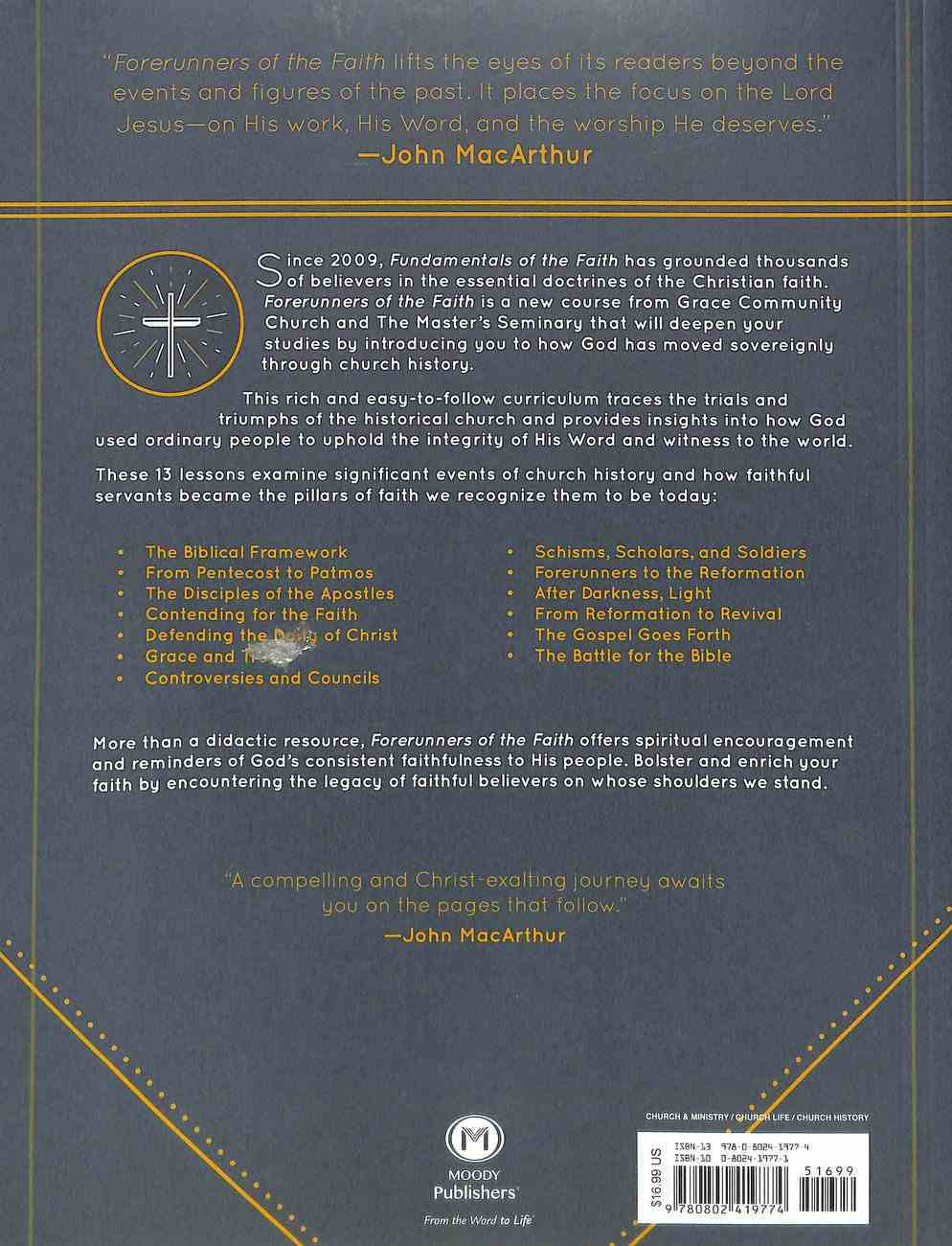 Forerunners of the Faith: 13 Lessons to Celebrate Our Christian Heritage (Teachers Guide) Paperback