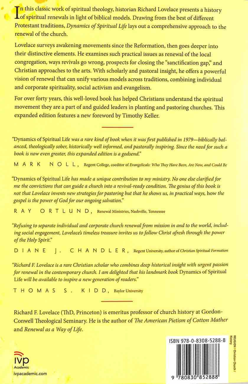 Dynamics of Spiritual Life: An Evangelical Theology of Renewal Paperback