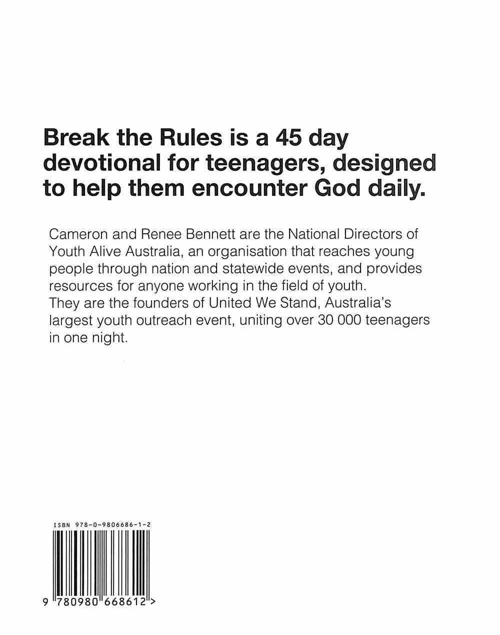 Break the Rules: A 45 Day Devotional Hardback