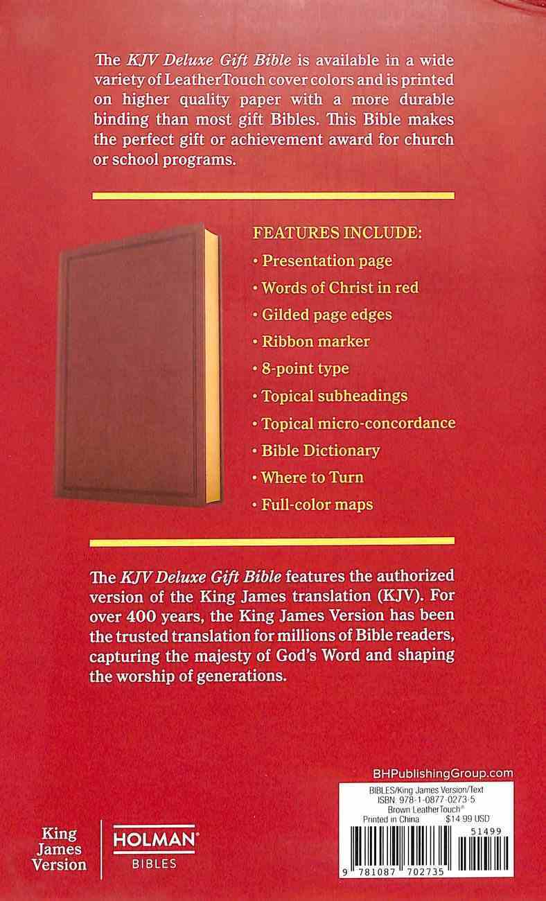KJV Deluxe Gift Bible Brown (Red Letter Edition) Imitation Leather