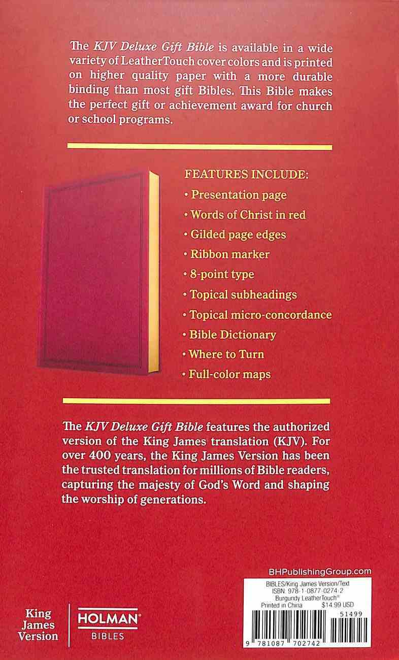 KJV Deluxe Gift Bible Burgundy (Red Letter Edition) Imitation Leather