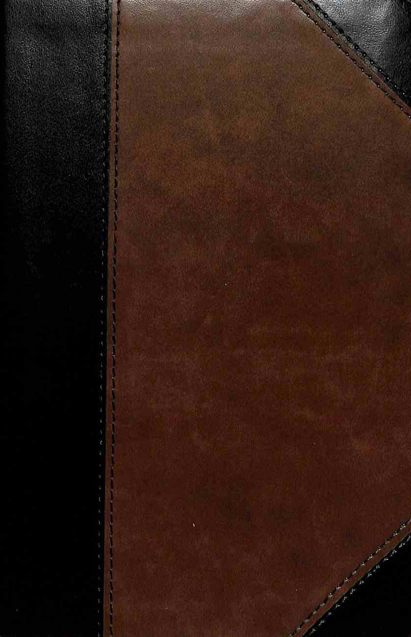 CSB Large Print Personal Size Reference Bible Black/Brown (Red Letter Edition) Imitation Leather