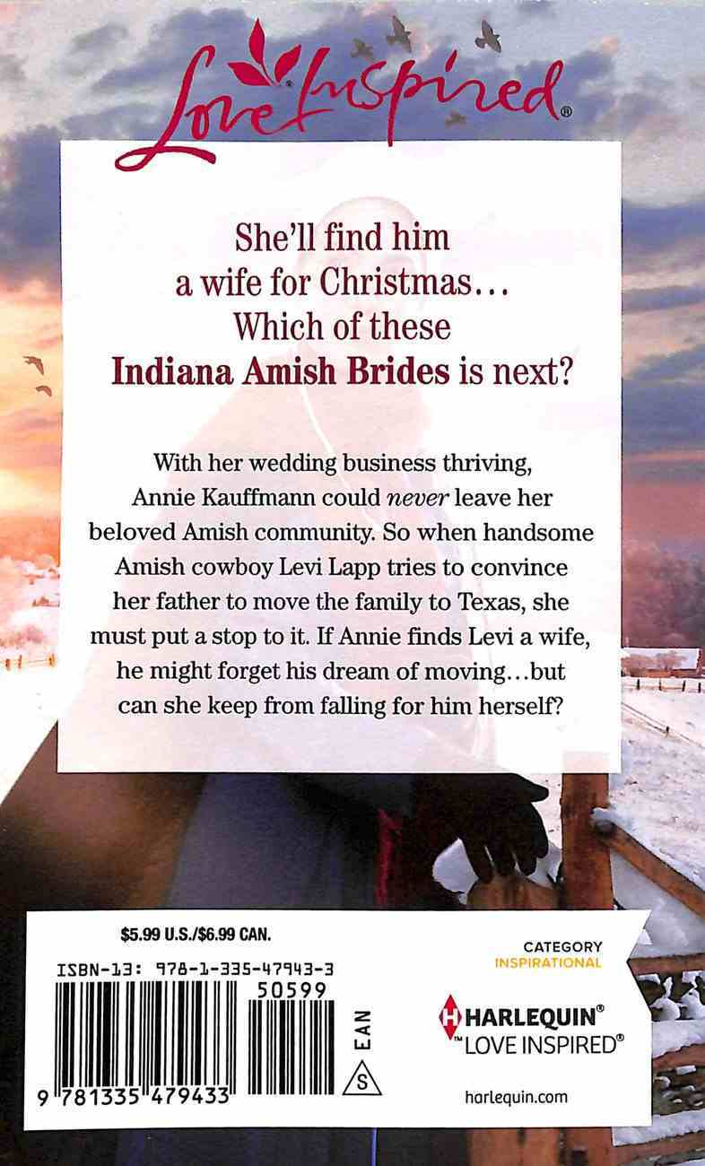 The Amish Christmas Matchmaker (Indiana Amish Brides) (Love Inspired Series) Mass Market