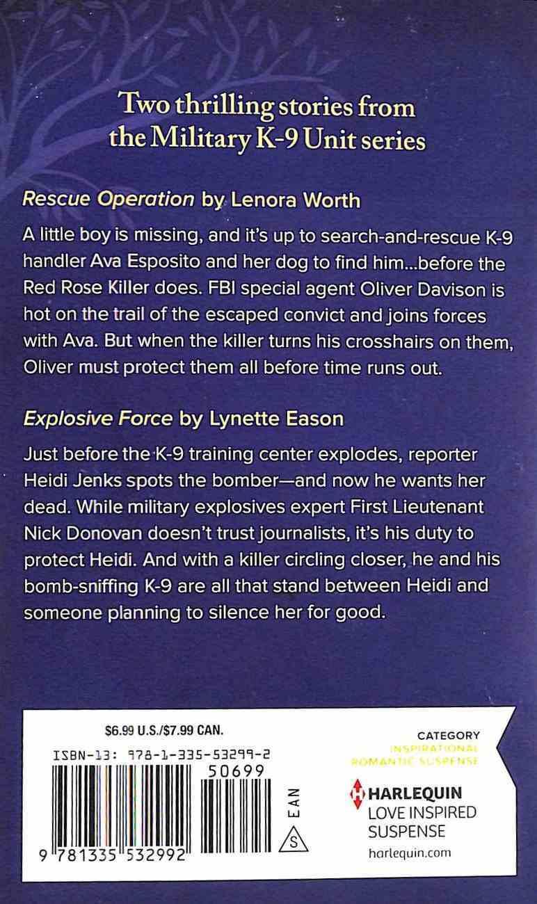Necessary Valor (K-9 Unit) (Love Inspired Suspense 2 Books In 1 Series) Mass Market