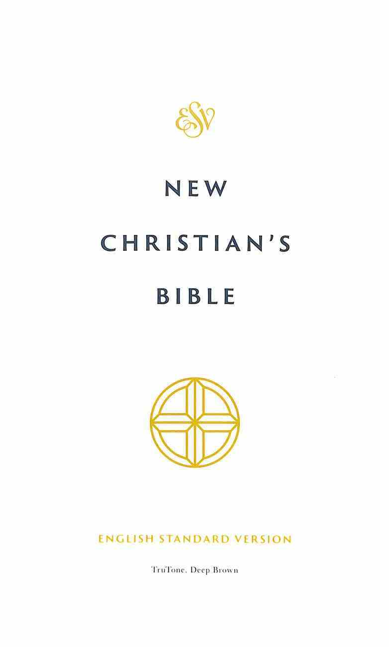 ESV New Christian's Bible Deep Brown (Black Letter Edition) Imitation Leather