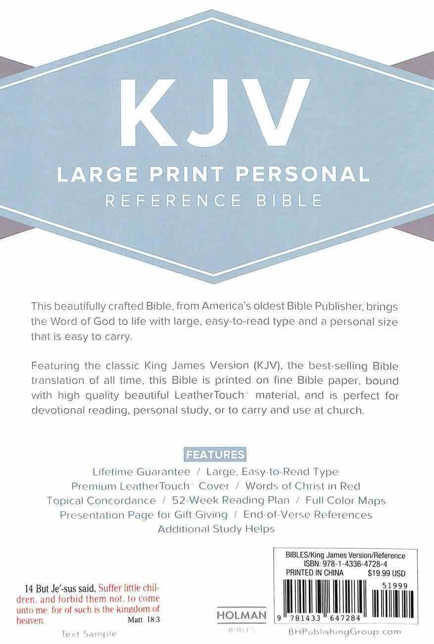 KJV Large Print Reference Bible Purple Imitation Leather