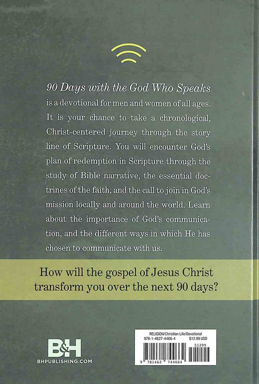 90 Days With the God Who Speaks Hardback