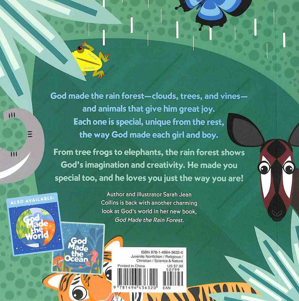 God Made the Rain Forest (God Made (Tyndale) Series) Board Book