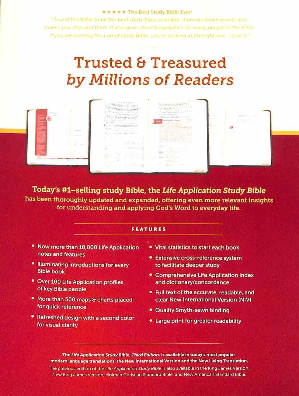 NIV Life Application Study Bible 3rd Edition Large Print Indexed (Red Letter Edition) Hardback