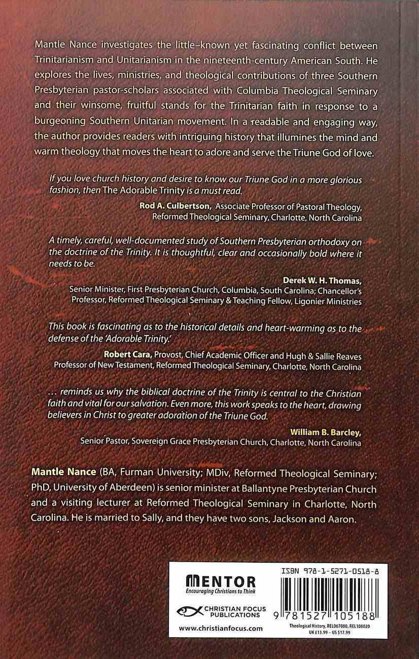 The Adorable Trinity: Standing For Orthodoxy in Nineteenth-Century America Paperback
