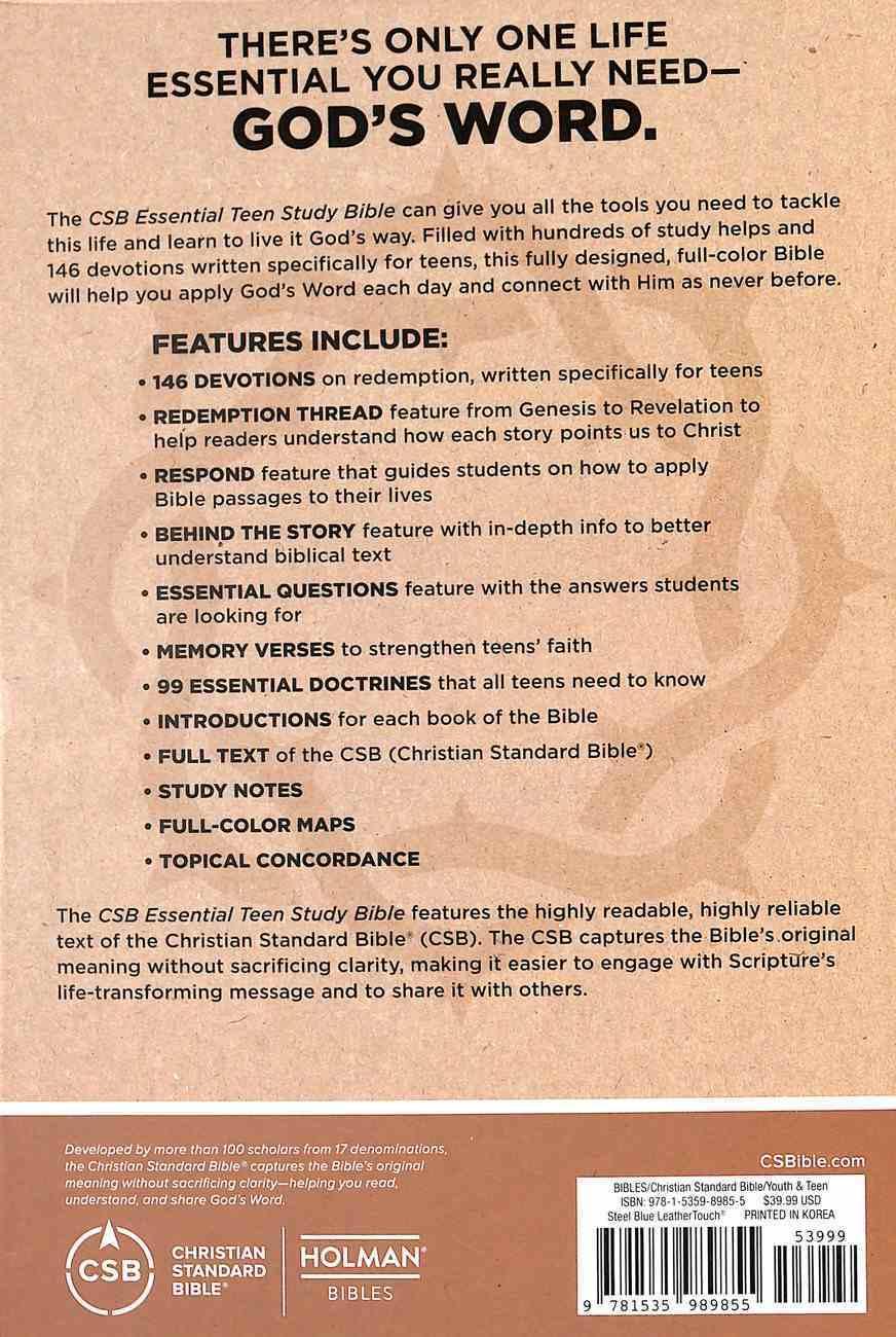 CSB Essential Teen Study Bible Steel Imitation Leather