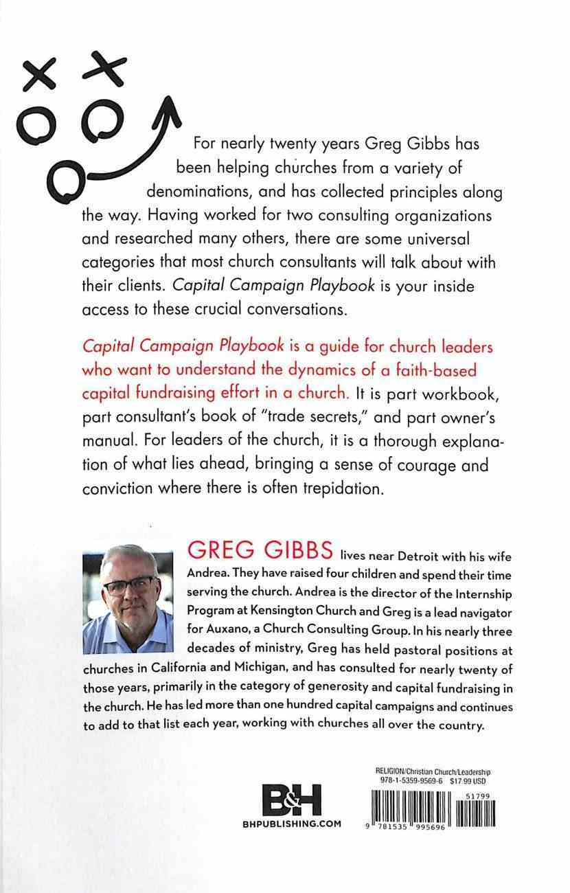 Capital Campaign Playbook: A Church Consultant's Gameplan Paperback