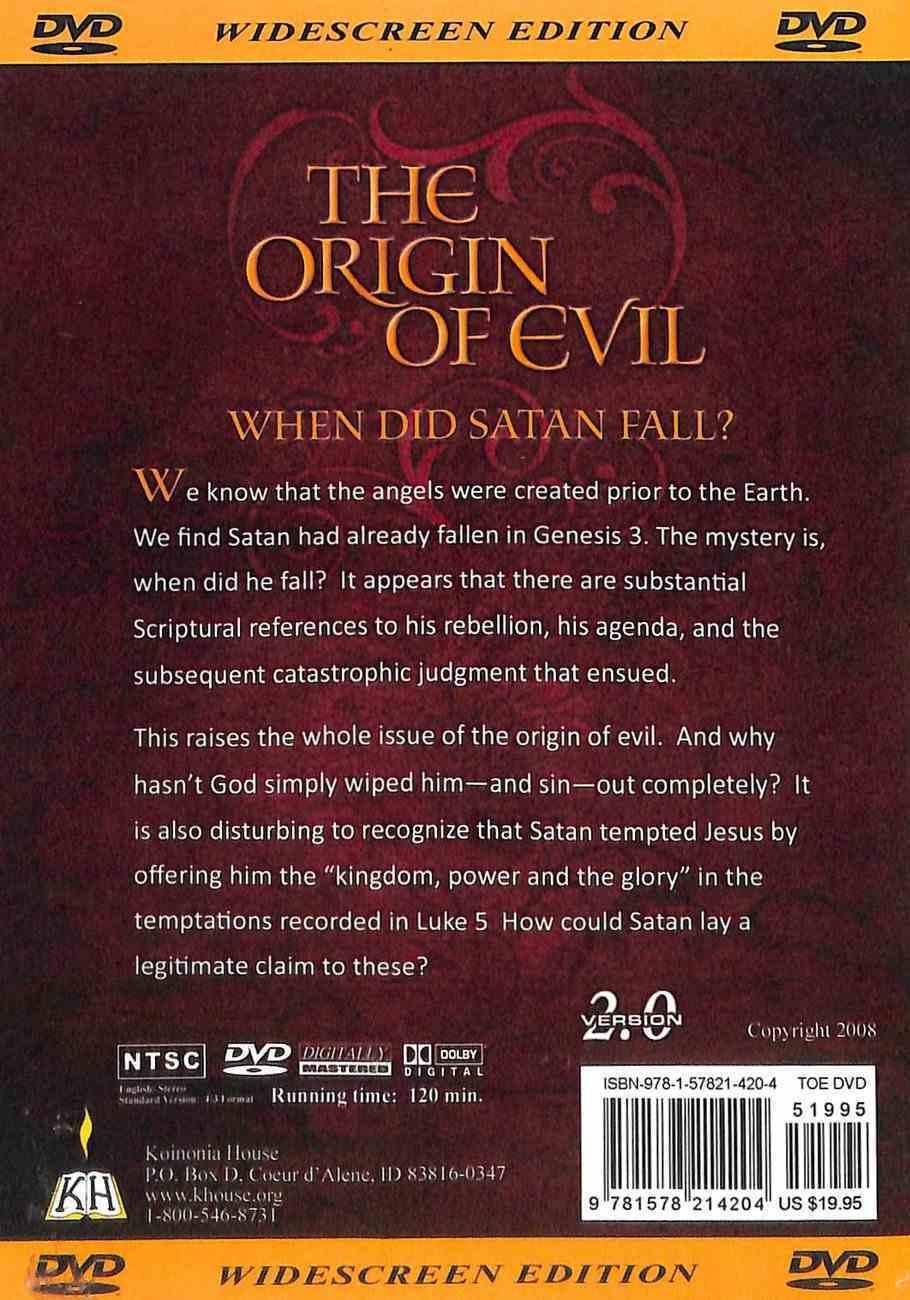 The Origin of Evil DVD