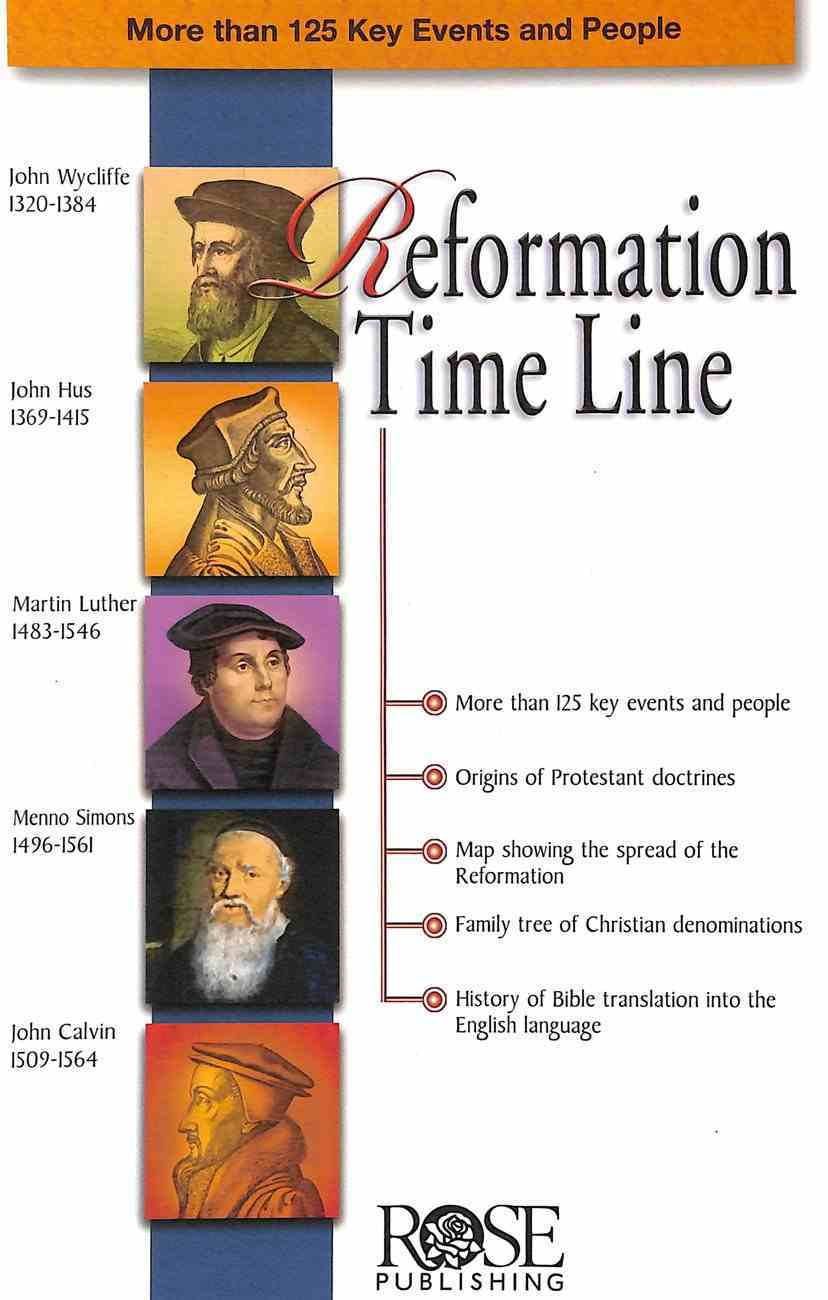Reformation Time Line (Rose Guide Series) Booklet