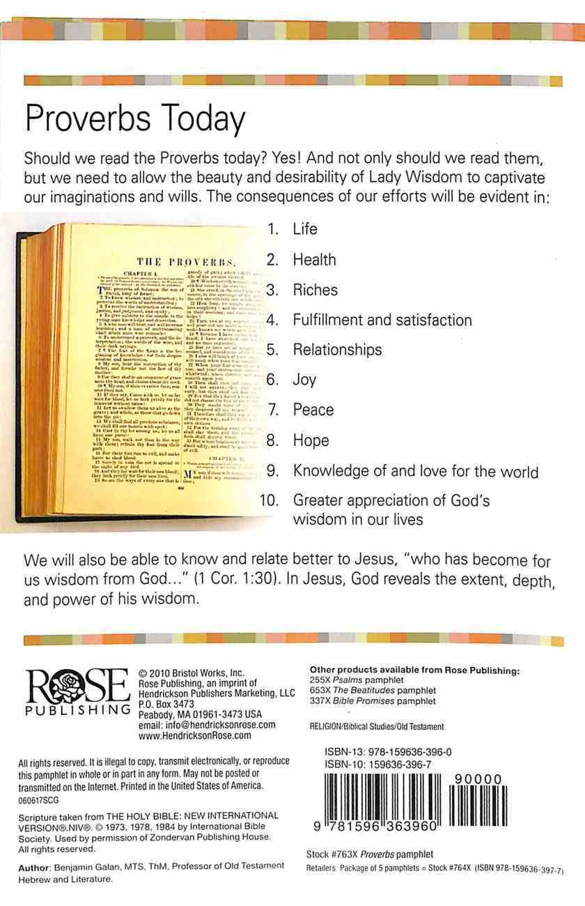 Proverbs (Rose Guide Series) Pamphlet
