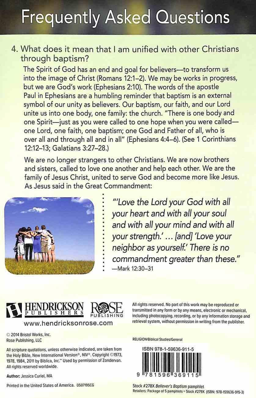 Believer's Baptism: Understanding Baptism (Rose Guide Series) Pamphlet