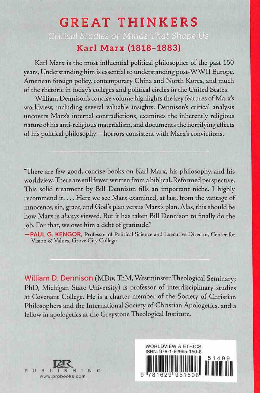 Karl Marx - Critical Studies of Minds That Shape Us (Great Thinkers Series) Paperback