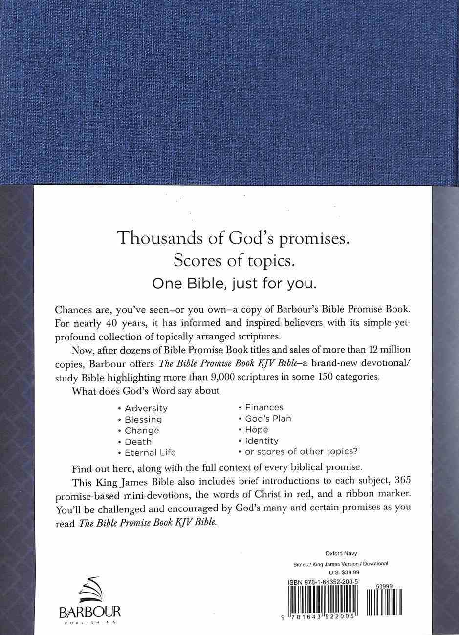 KJV Bible Promise Book Devotional Study Bible Oxford Navy (Red Letter Edition) Hardback