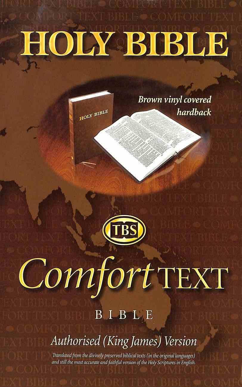 KJV Comfort Holy Bible Brown (Black Letter Edition) Hardback