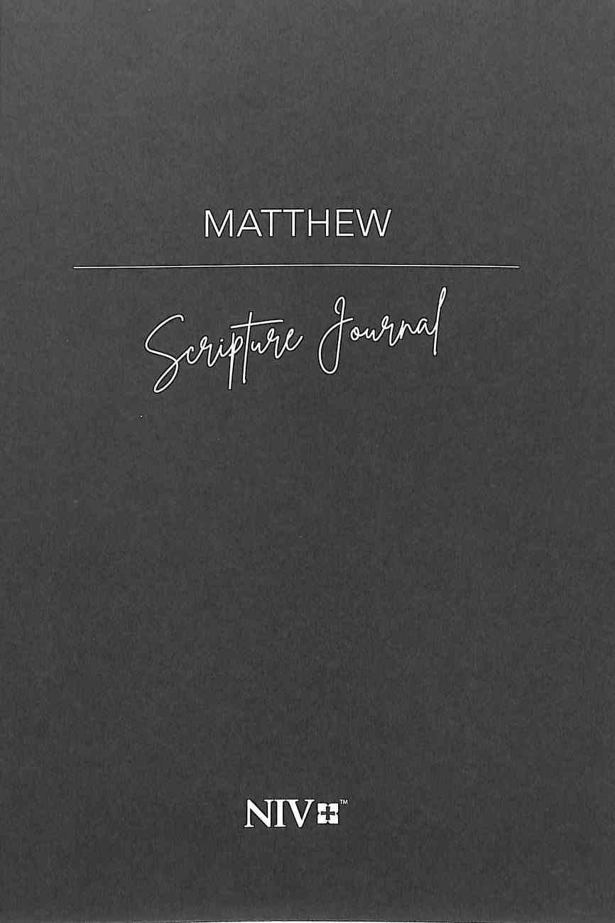 NIV Scripture Journal: Matthew Paperback