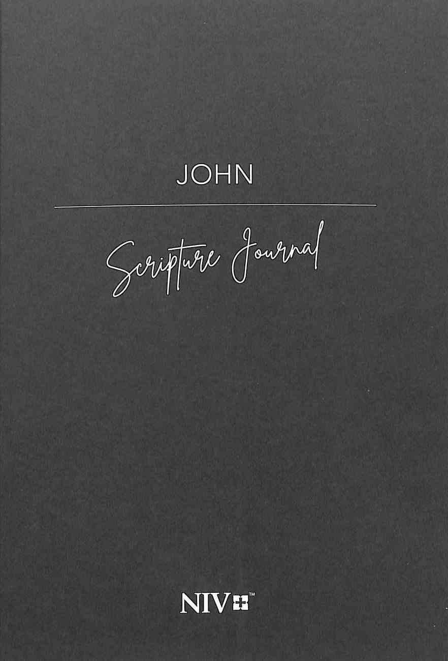 NIV Scripture Journal: John Paperback