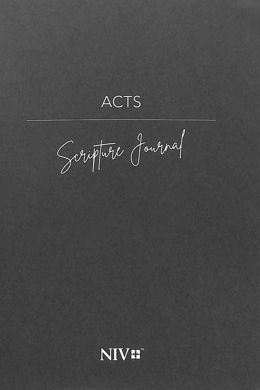 NIV Scripture Journal: Acts Paperback