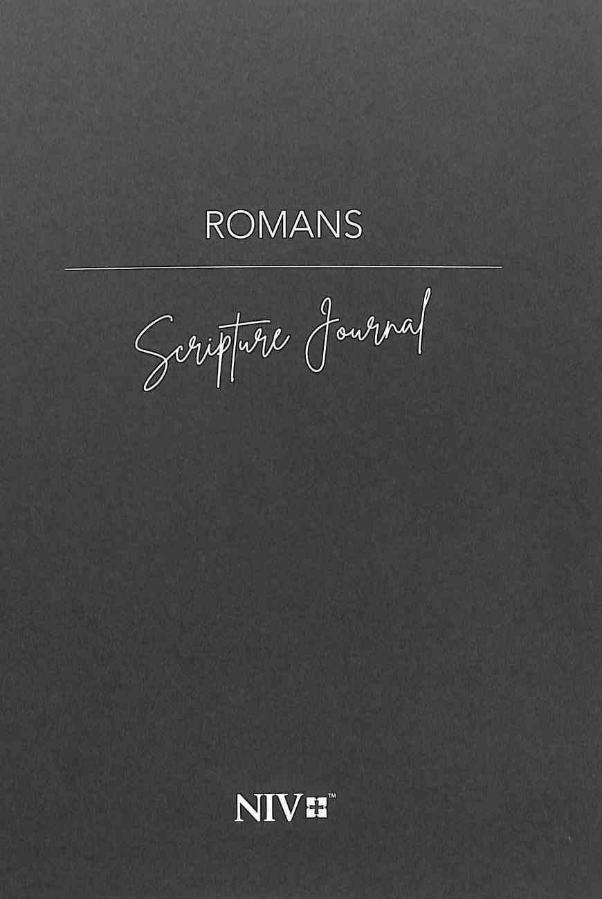 NIV Scripture Journal: Romans Paperback