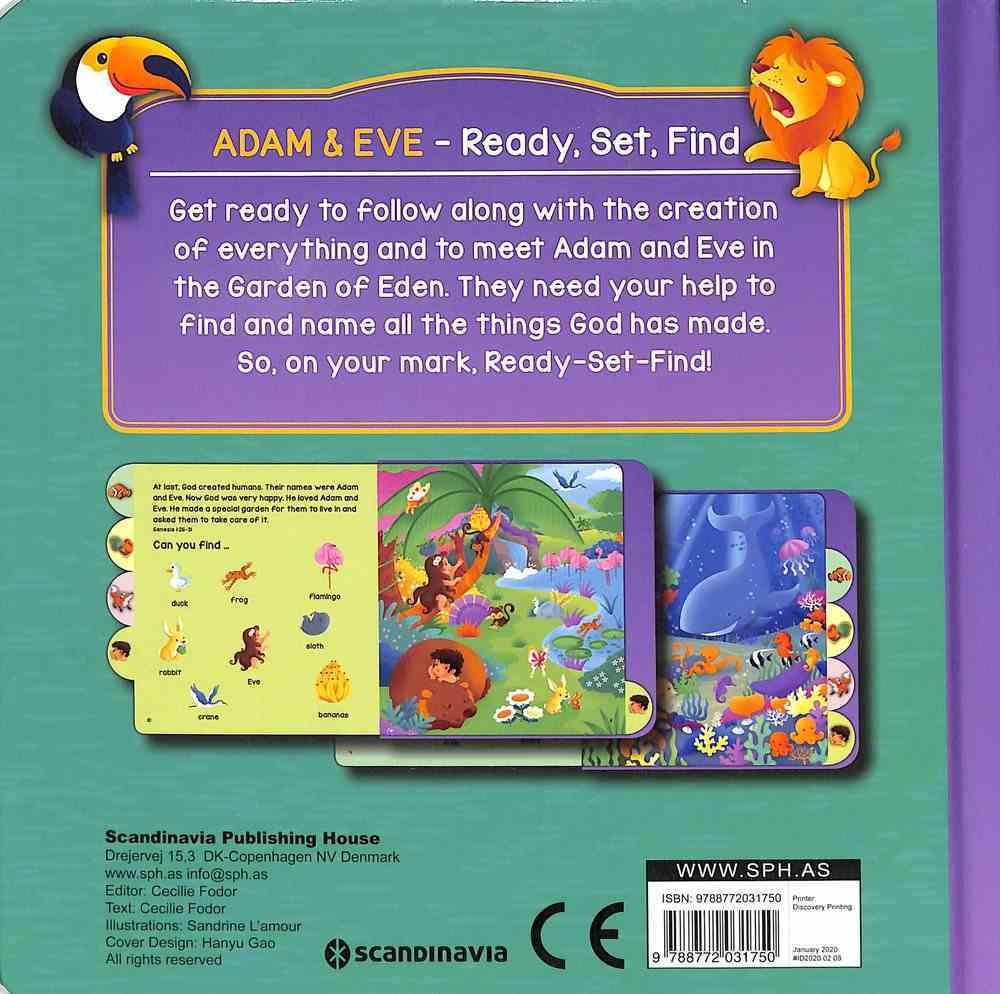 Adam & Eve (Ready, Set, Find Series) Board Book