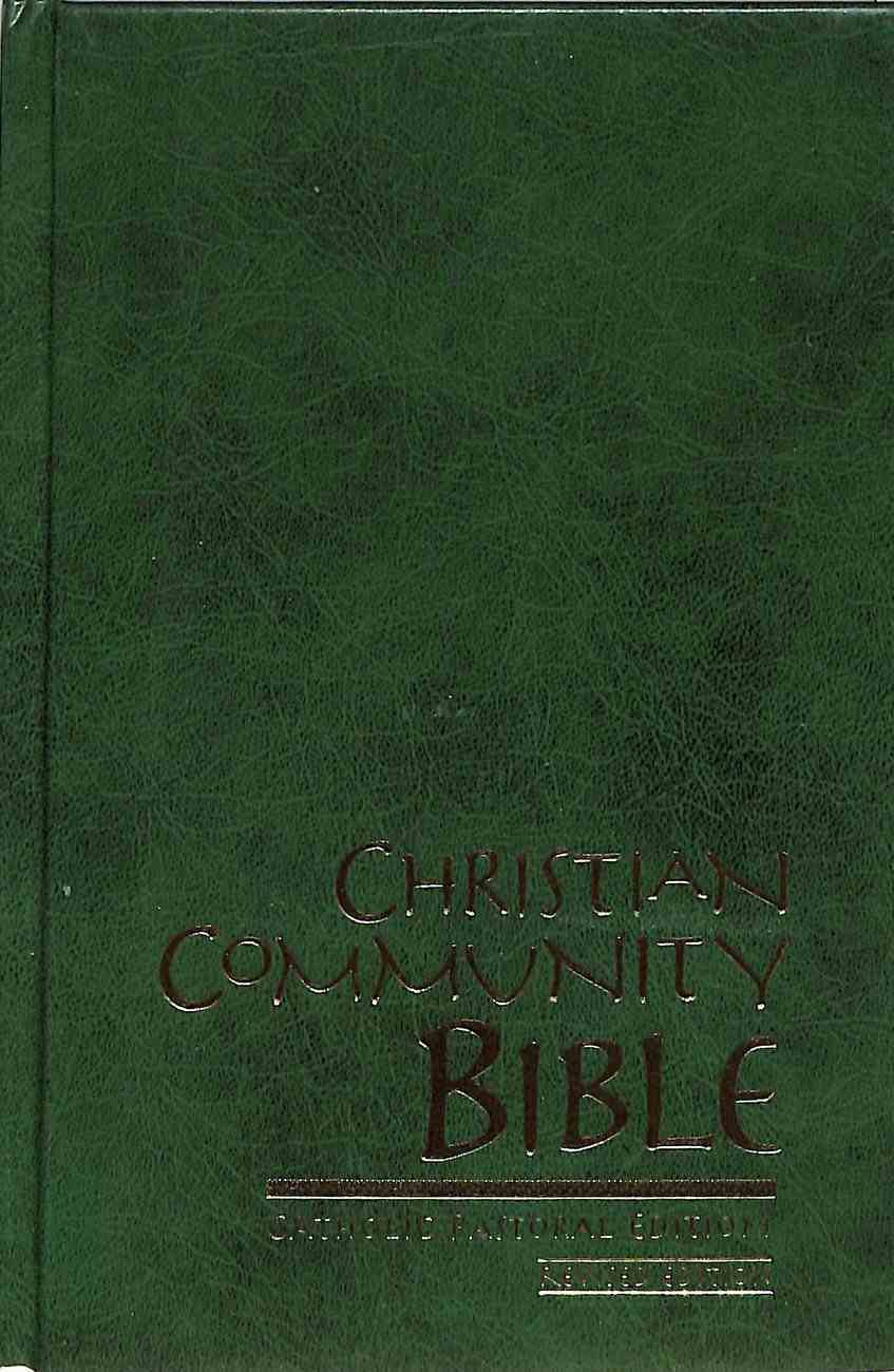Christian Community Bible Indexed Green Hardback