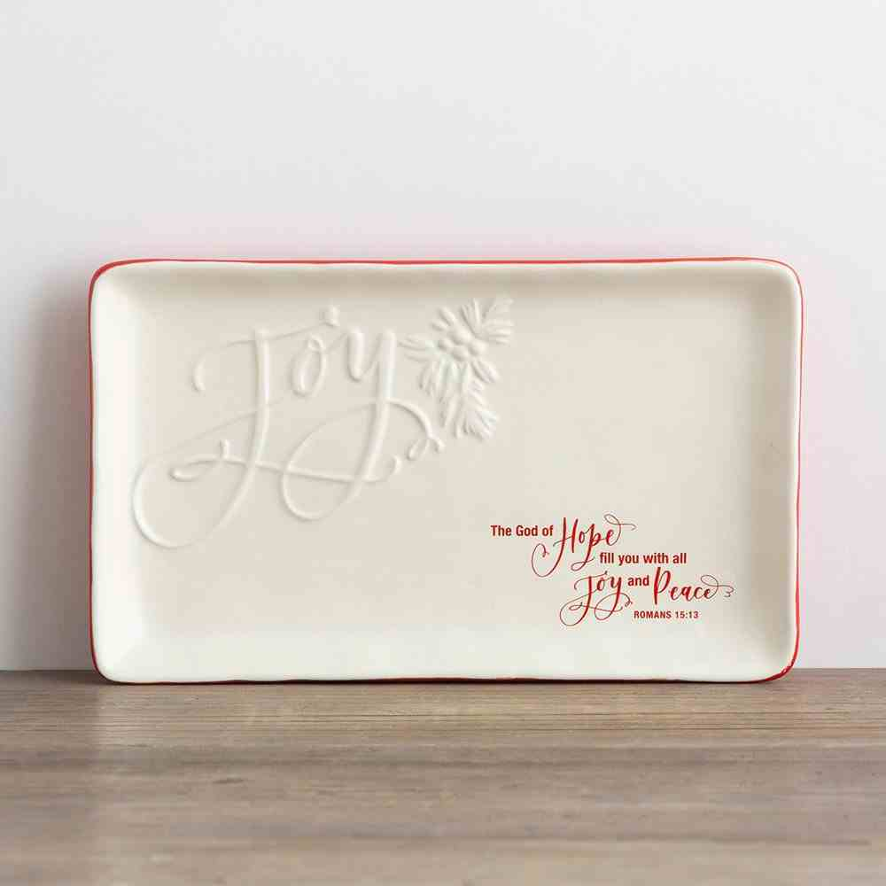 Christmas Ceramic Trinket Tray: Joy (Romans 15:13) Homeware
