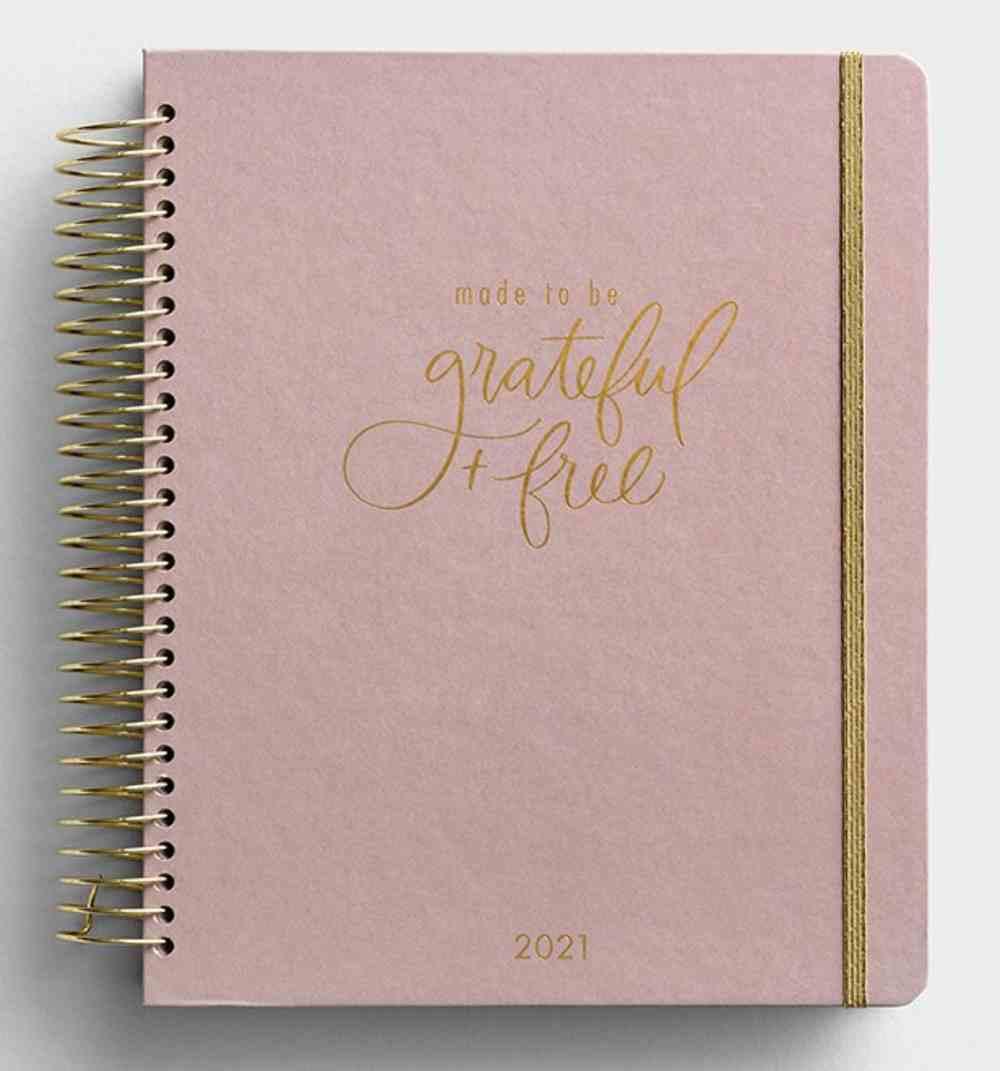 2021 18-Month Premium Devotional Diary/Planner: Grateful & Free Spiral