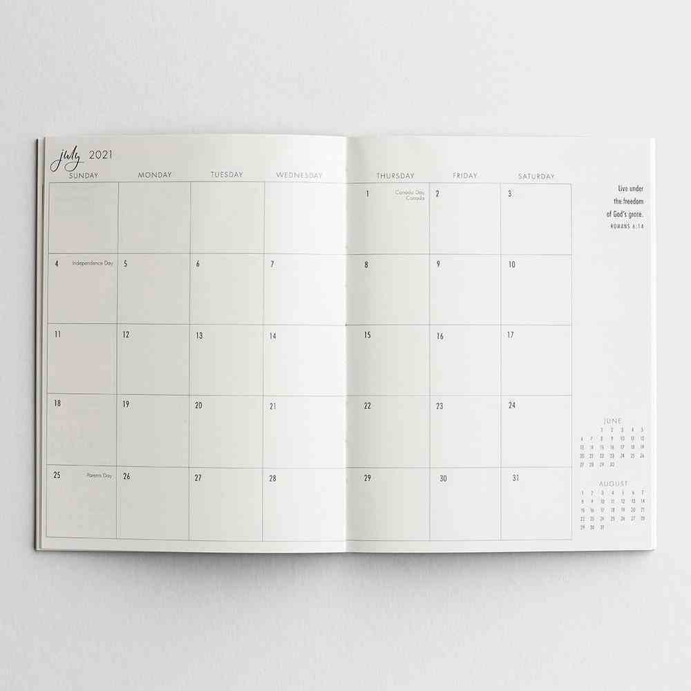2021 16-Month Diary/Planner: Not a Day Goes By Without His Unfolding Grace Calendar