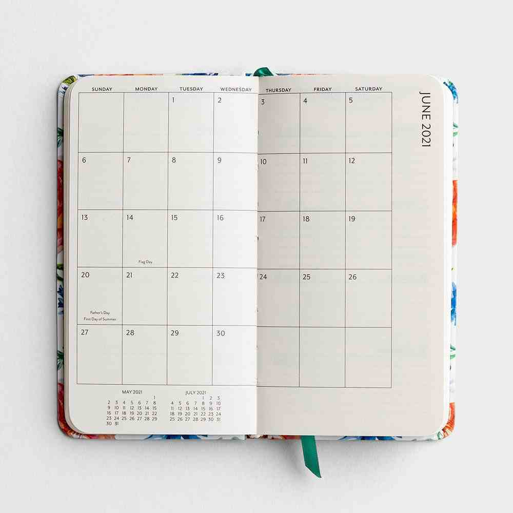 2021 Premium Pocket Diary/Planner: Floral Hardback