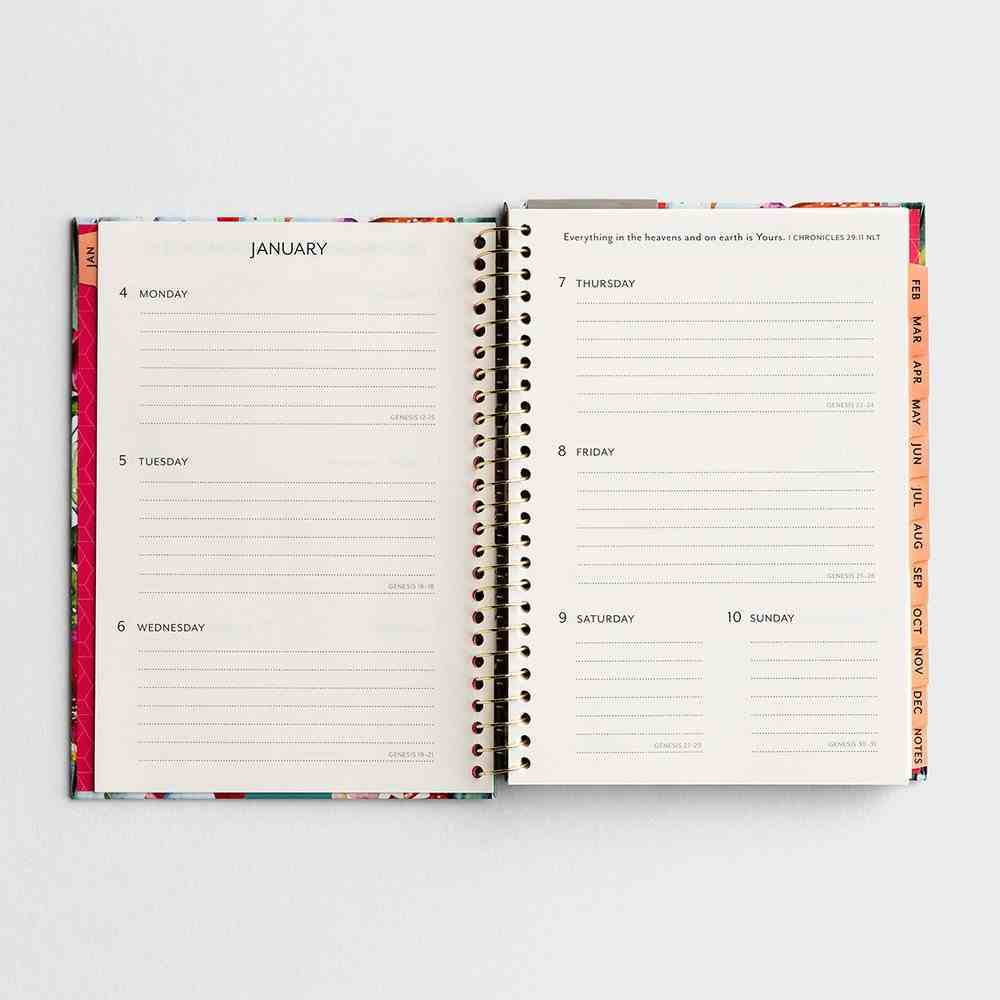 2021 12-Month Weekly Diary/Planner: Cactus Flowers Spiral