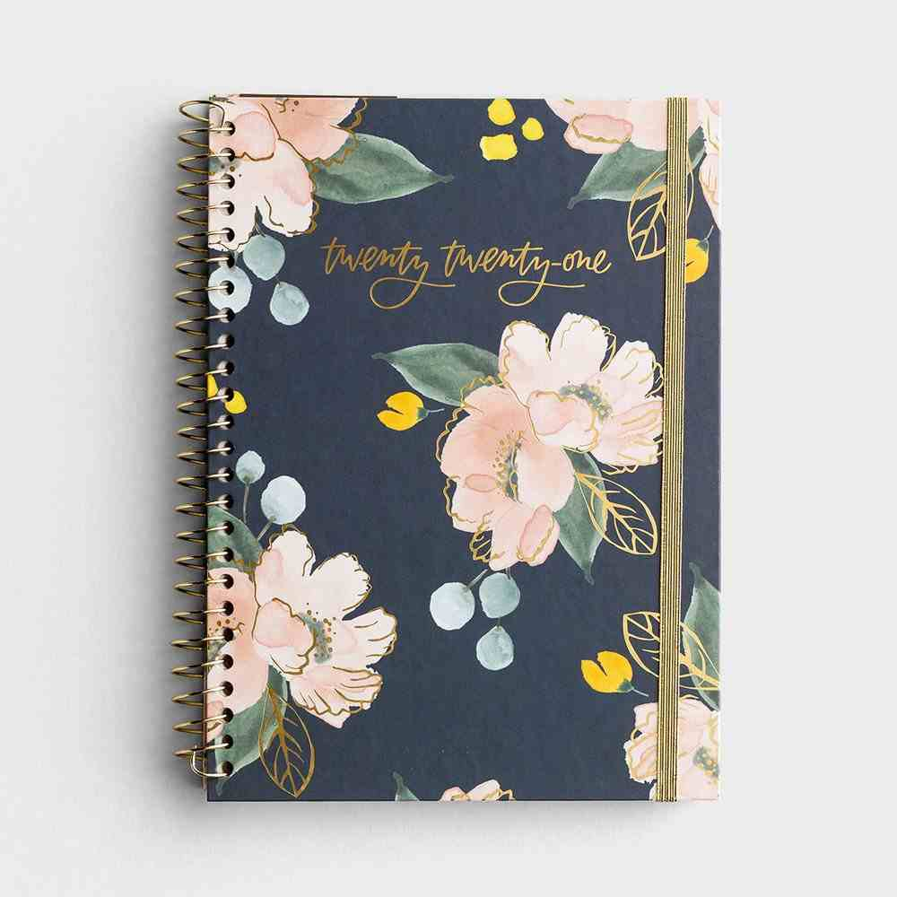2021 12-Month Weekly Diary/Planner: Floral Spiral