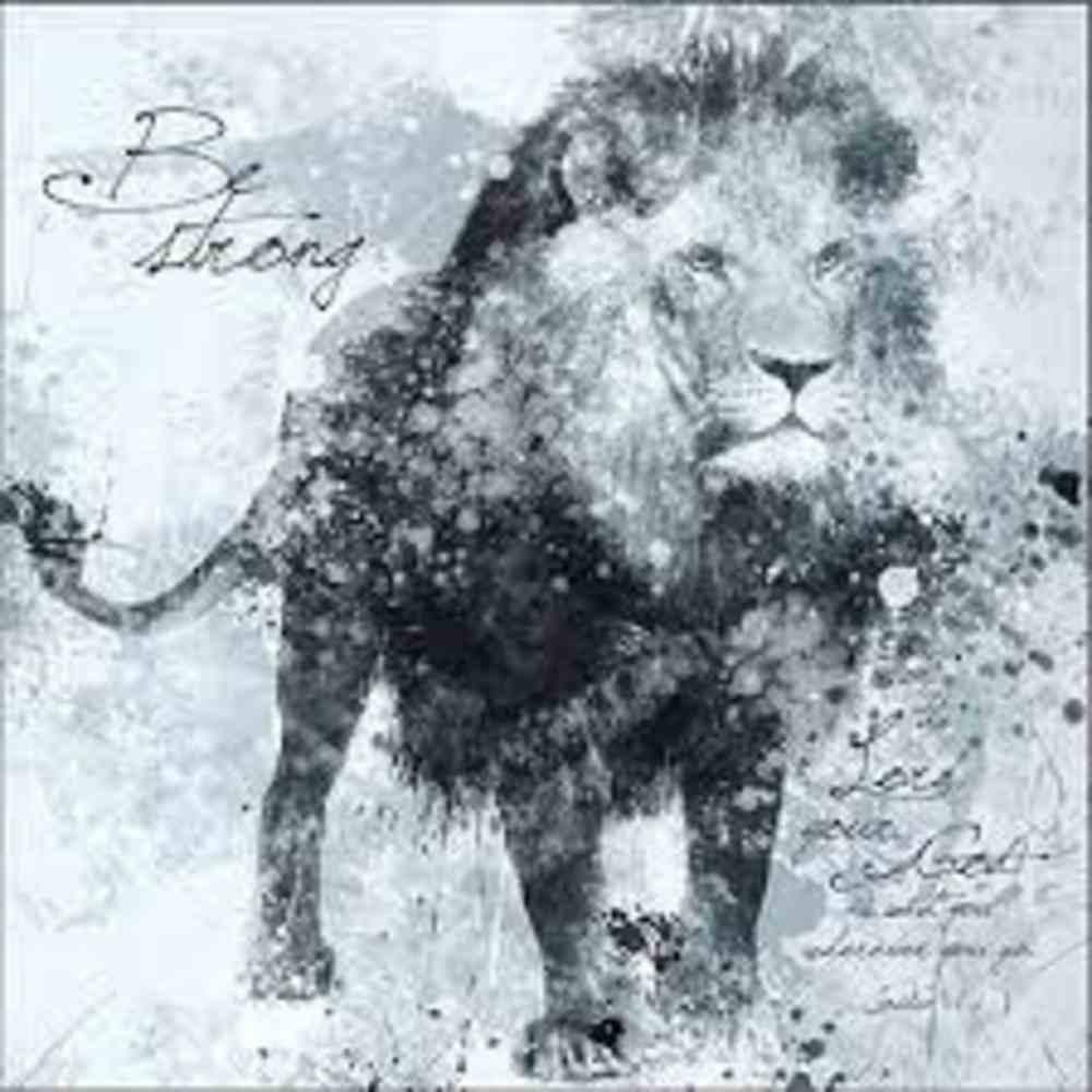 Wall Art: Lion, Be Strong (Joshua 1:9) Plaque