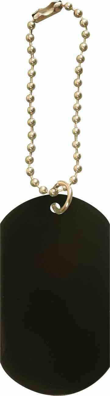 Dog Tag: Black Anodized Aluminium Jewellery