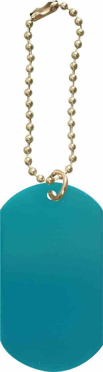 Dog Tag: Blue Anodized Aluminium Jewellery