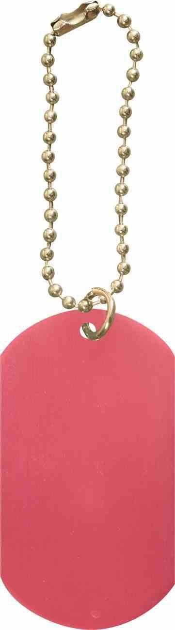 Dog Tag: Pink Anodized Aluminium Jewellery