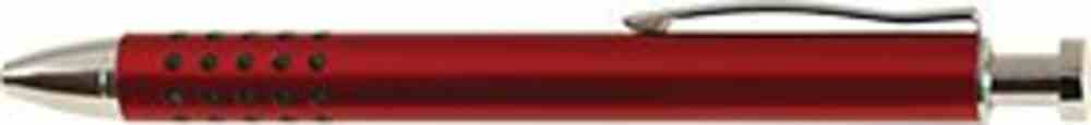 Pen: Red Metal With Grip Stationery